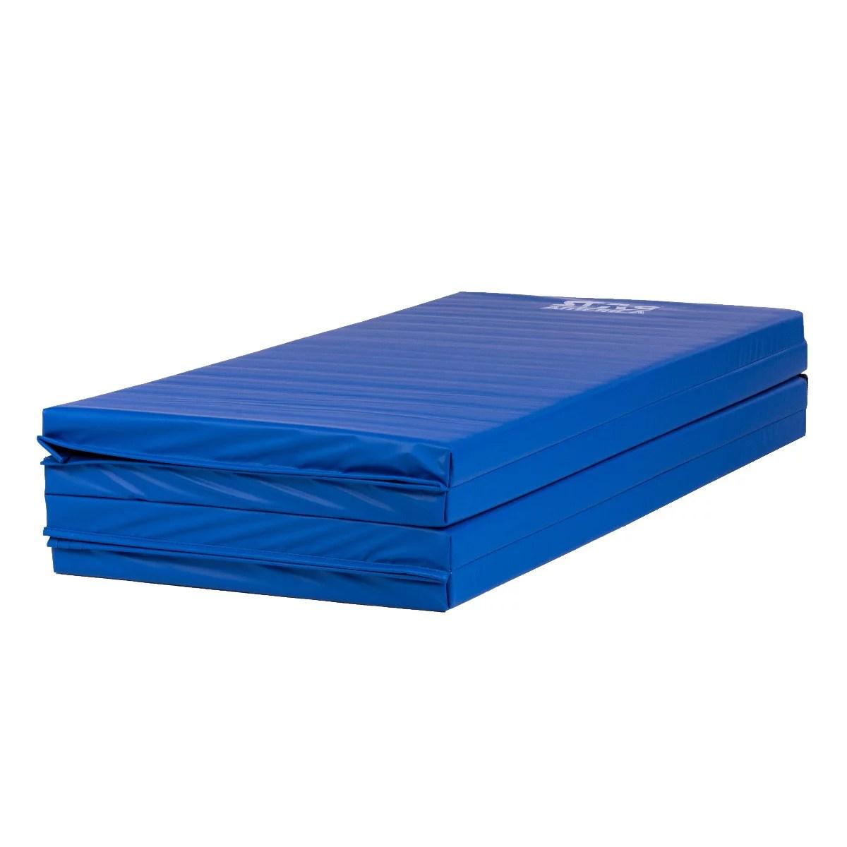 stag america tapis de sol 240cm pour gymnastique et fitness matelas de gym pliable pour la maison 8 x 4 x 2