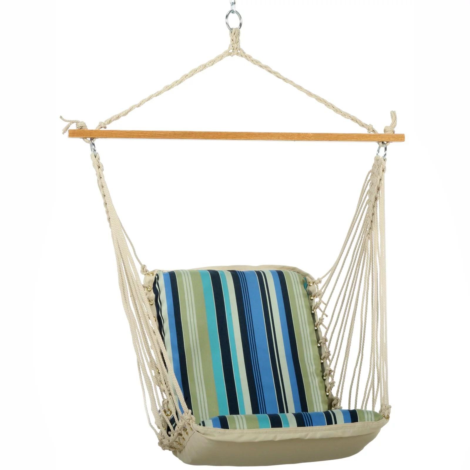 hanging chair bolt bubble under 200 pawleys island beaches stripe cushioned single hammock swing walmart com
