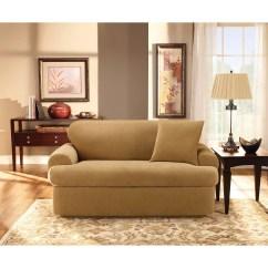 Sure Fit Stretch Pique 3 Piece T Cushion Sofa Slipcover Pewter Crushed Velvet Universal Walmart Com
