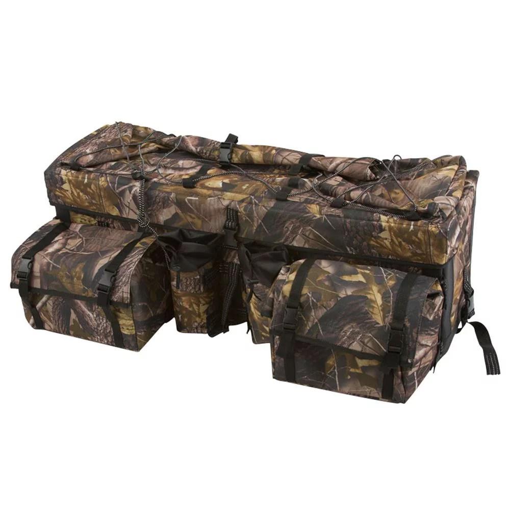 camouflage atv cargo rear rack gear bag with topside bungee tie down storage walmart com