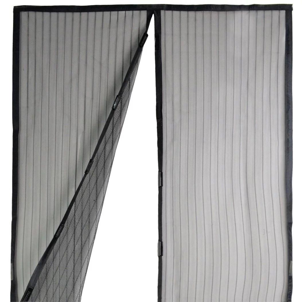 magnetic mesh screen door instant magic mesh curtain closer for 82 7 x39 4 w heavy duty mesh