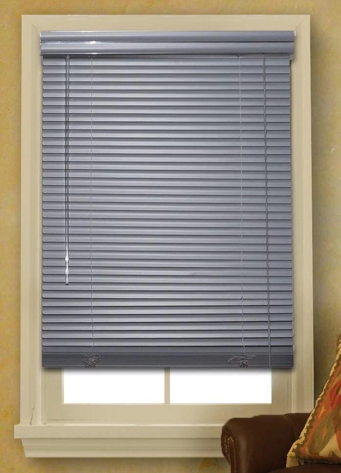 Window Blinds Mini Blinds 1 Slats Gray Venetian Vinyl