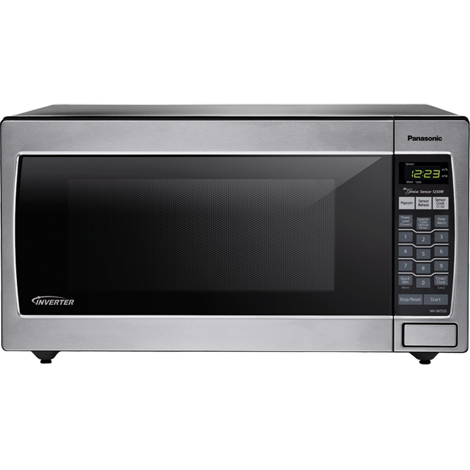panasonic nn sn752s stainless 1250w 1 6 cu ft countertop built in microwave with inverter technology