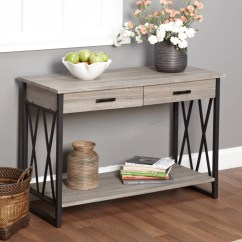 Sofa Console Tables Wood Fabric Sleeper Lenyxx Collection Table Multiple Colors Walmart Com