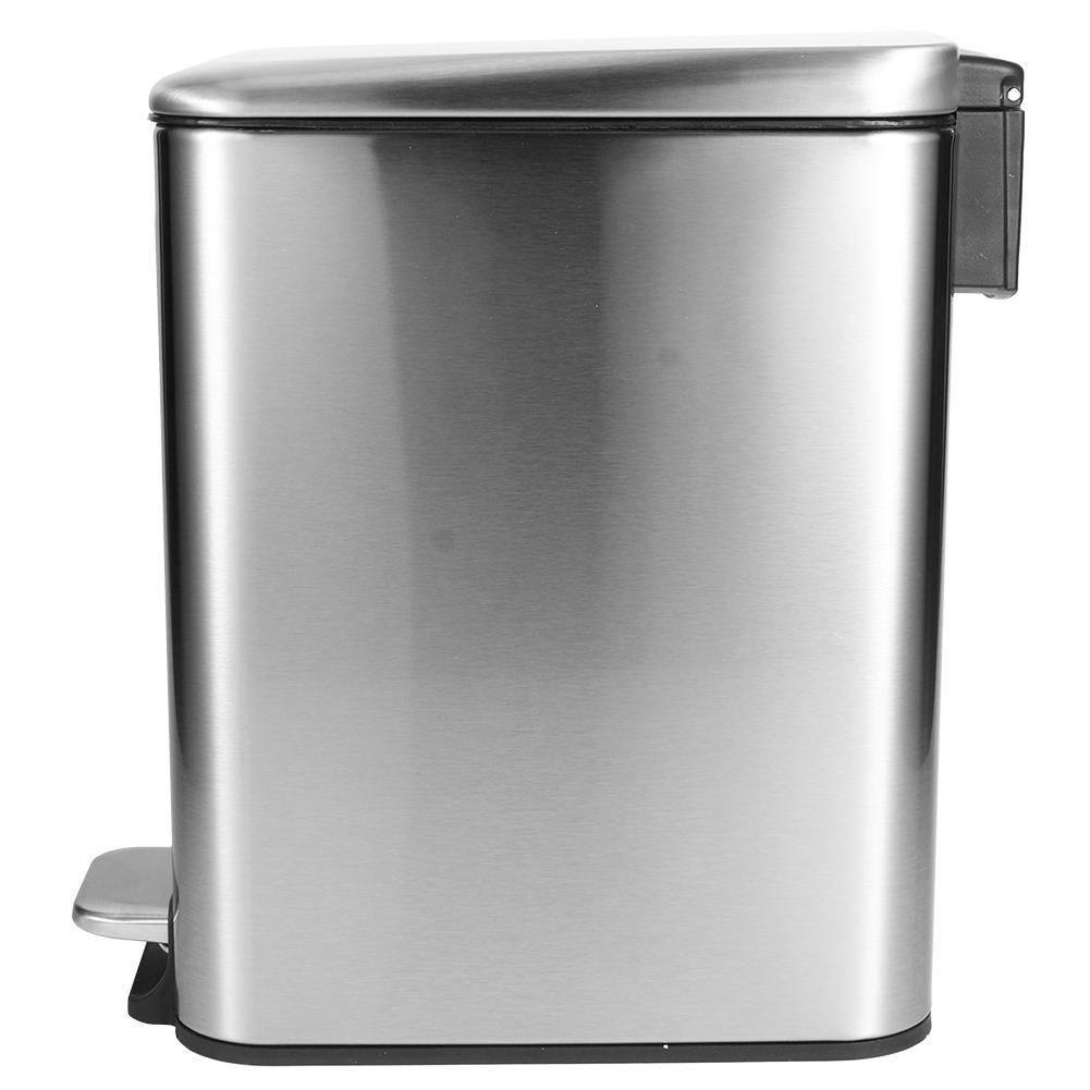 Lyumo Stainless Steel Mute Pedal Rubbish Garbage Bin Trash Can Dustbin 5l For Home Bedroom Kitchen Use Garbage Can Dustbin Walmart Canada
