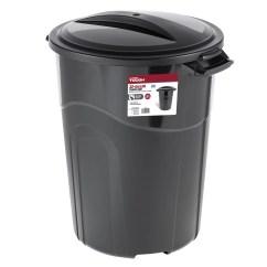 30 Gallon Kitchen Trash Can Modern Corner Table Hyper Tough 32 Injection Molded Black