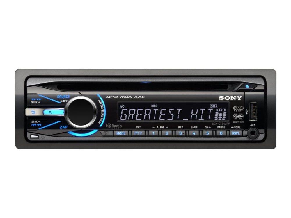 medium resolution of sony cdx gt54uiw car cd receiver in dash full din 52 watts x 4 walmart com