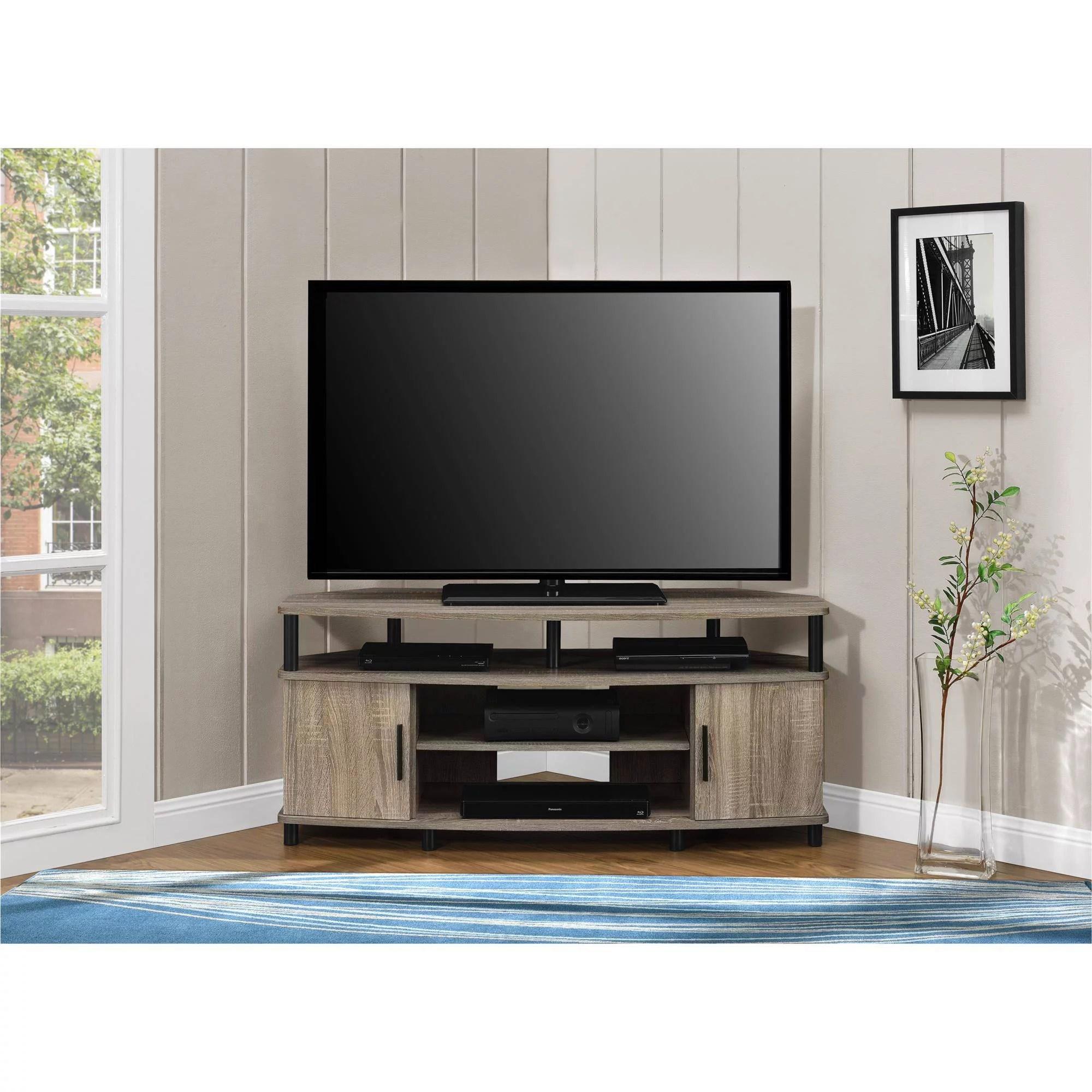 Corner TV Stand Media Console For Flat Screens Sonoma Oak Entertainment Center  eBay