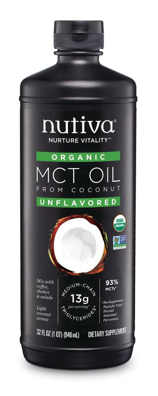 Nutiva Organic MCT Oil from Coconut Unflavored 32 Fl Oz ...