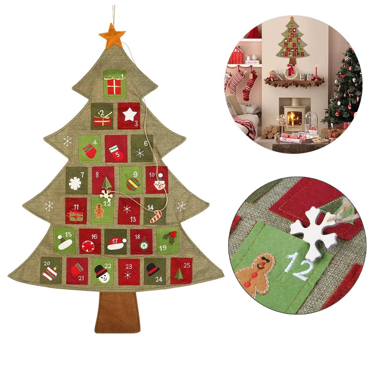 Hanging Christmas Advent Calendar Countdown To Christmas