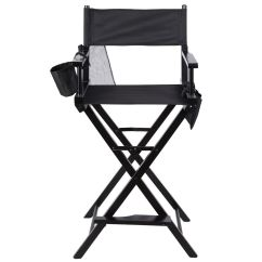 Personalized Makeup Chair Acorn Lifts Costway Professional Artist Directors Wood Light Weight Foldable Black Walmart Com