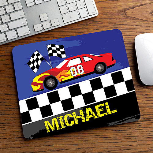 personalized race car mouse