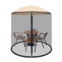 Patio Umbrella Cover Mosquito Netting Screen for Patio