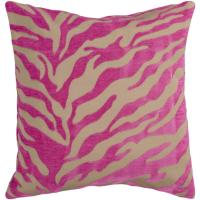 "18"" Fuschia and Beige Hot Animal Print Decorative Down ..."