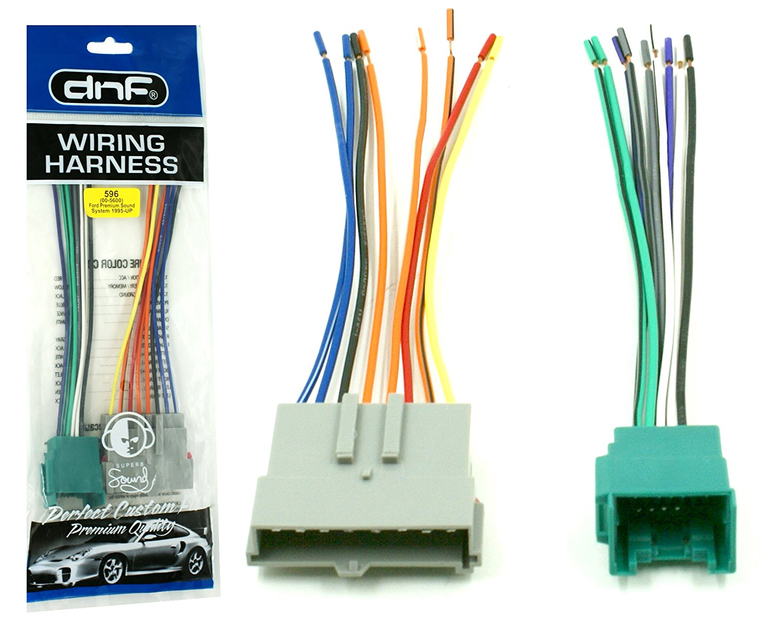 hight resolution of dnf aftermarket wiring harness for select ford lincoln mercury vehicles 70 5600 100 copper wires walmart com
