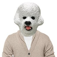 Bichon Frise Dog Halloween Costume Face Mask
