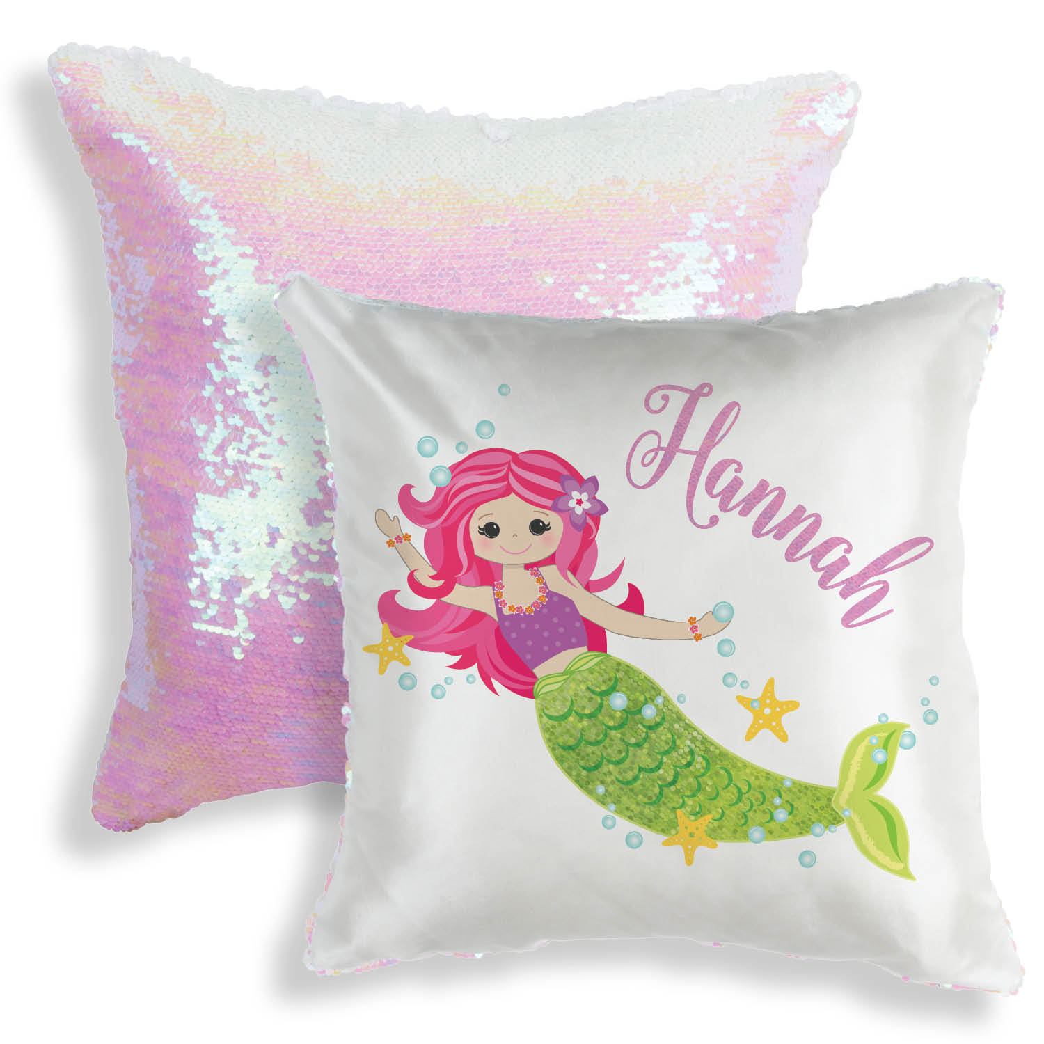 sequin pillow personalized mermaid throw pillow 16x16