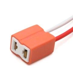 2pcs orange h7 ceramic wiring harness headlight fog light bulb socket for car [ 1100 x 1100 Pixel ]