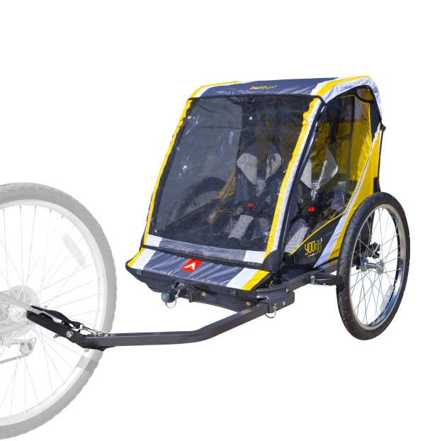 Deluxe Steel 2-child Bicycle Trailer And Stroller