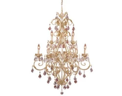 patriot lighting newcastle 9 light gilded white gold chandelier