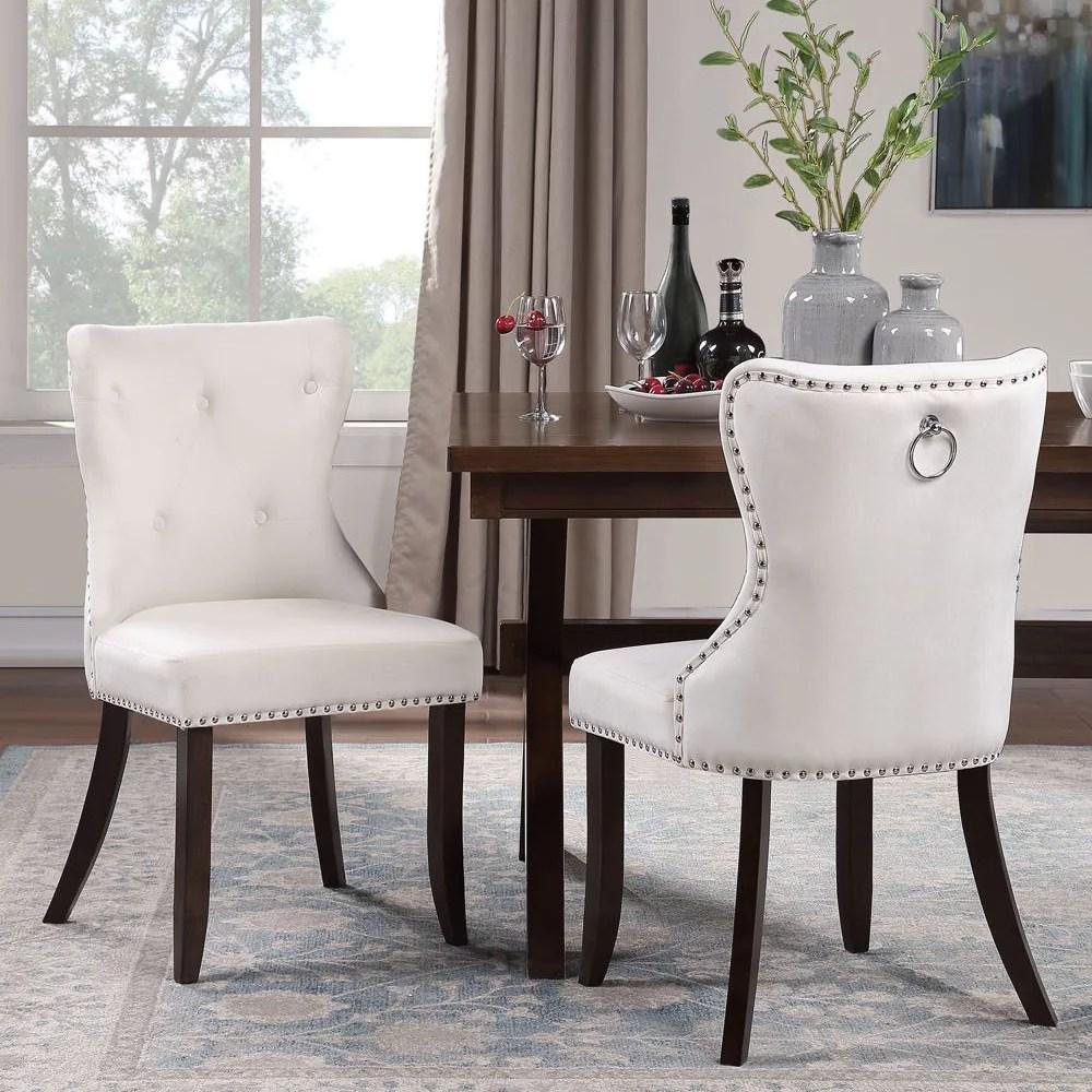 Clearance! Living Room Chair Set of 2, Tufted Velvet ...