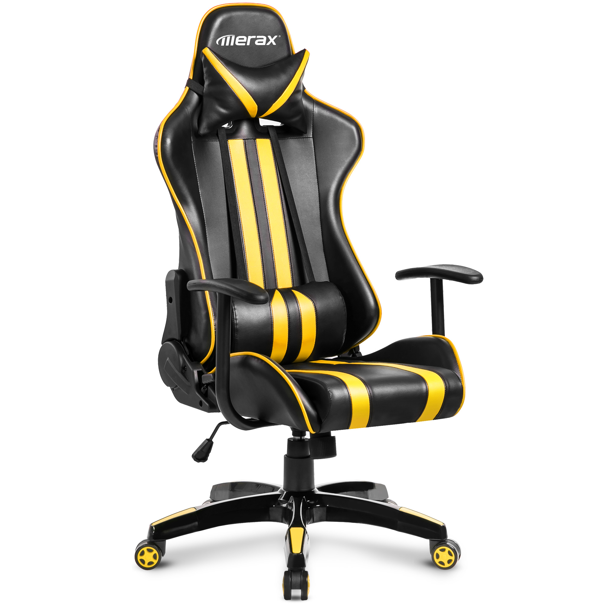 office chair leather folding padded seat merax racing style ergonomic swivel gaming and walmart com