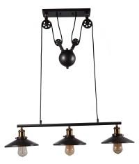 Adjustable industrial pulley pendant fixture edison ...