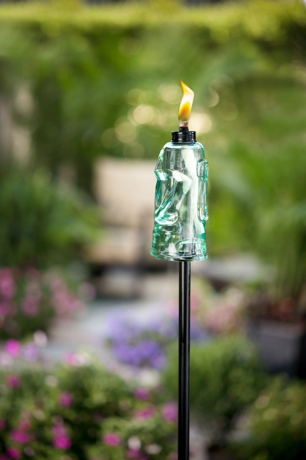 Tiki Brand 65- King Oahu Glass Torch Blue