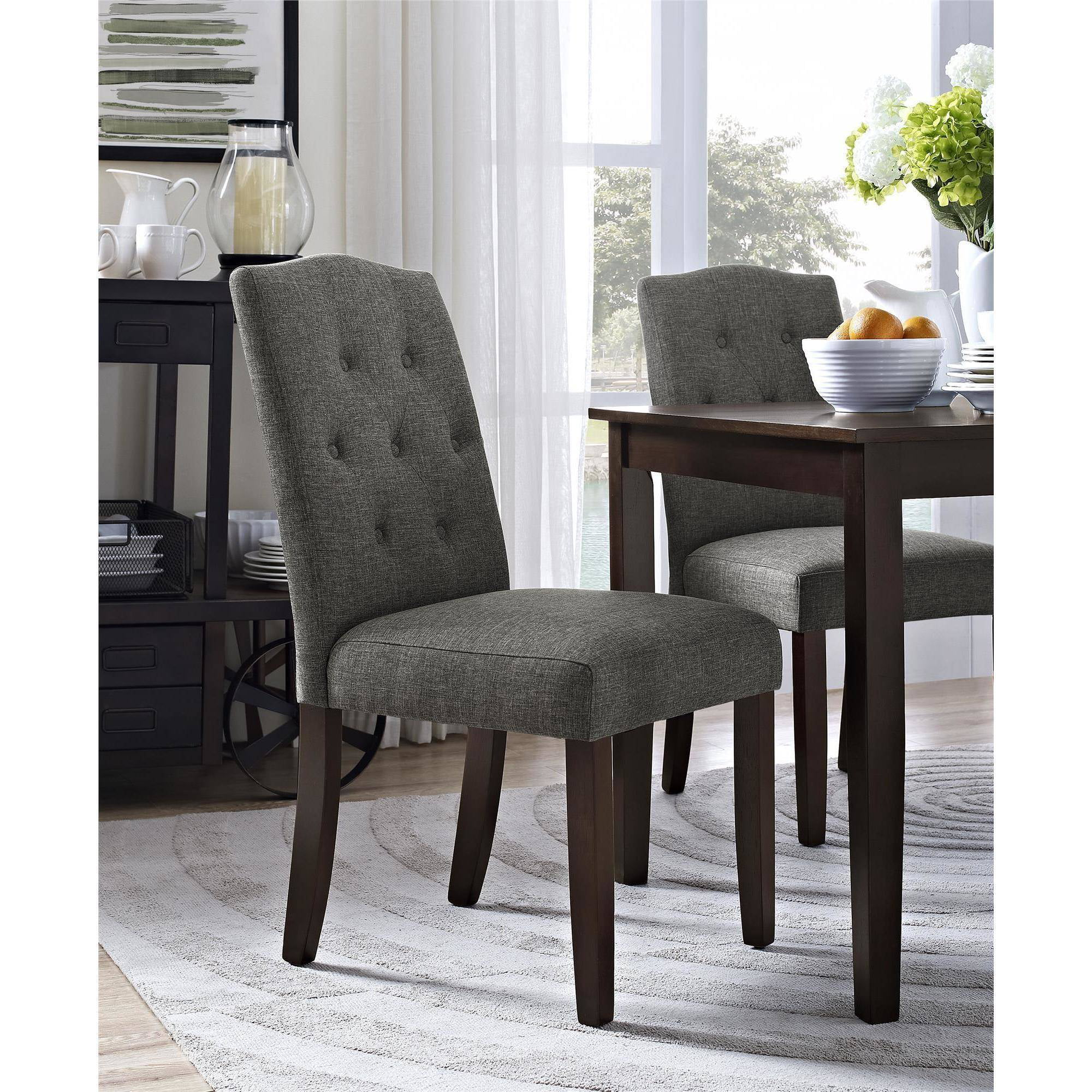 tufted dining room chairs chair covers gumtree glasgow better homes and gardens parsons multiple colors walmart com