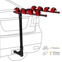 XtrempowerUS 4-Bike Auto Hitch Mount Bicycle Rack Car SUV ...