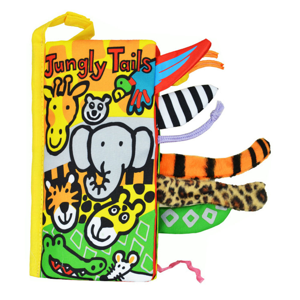 Cartoon Cloth Book Stereo Animal Tails Baby Children Bed