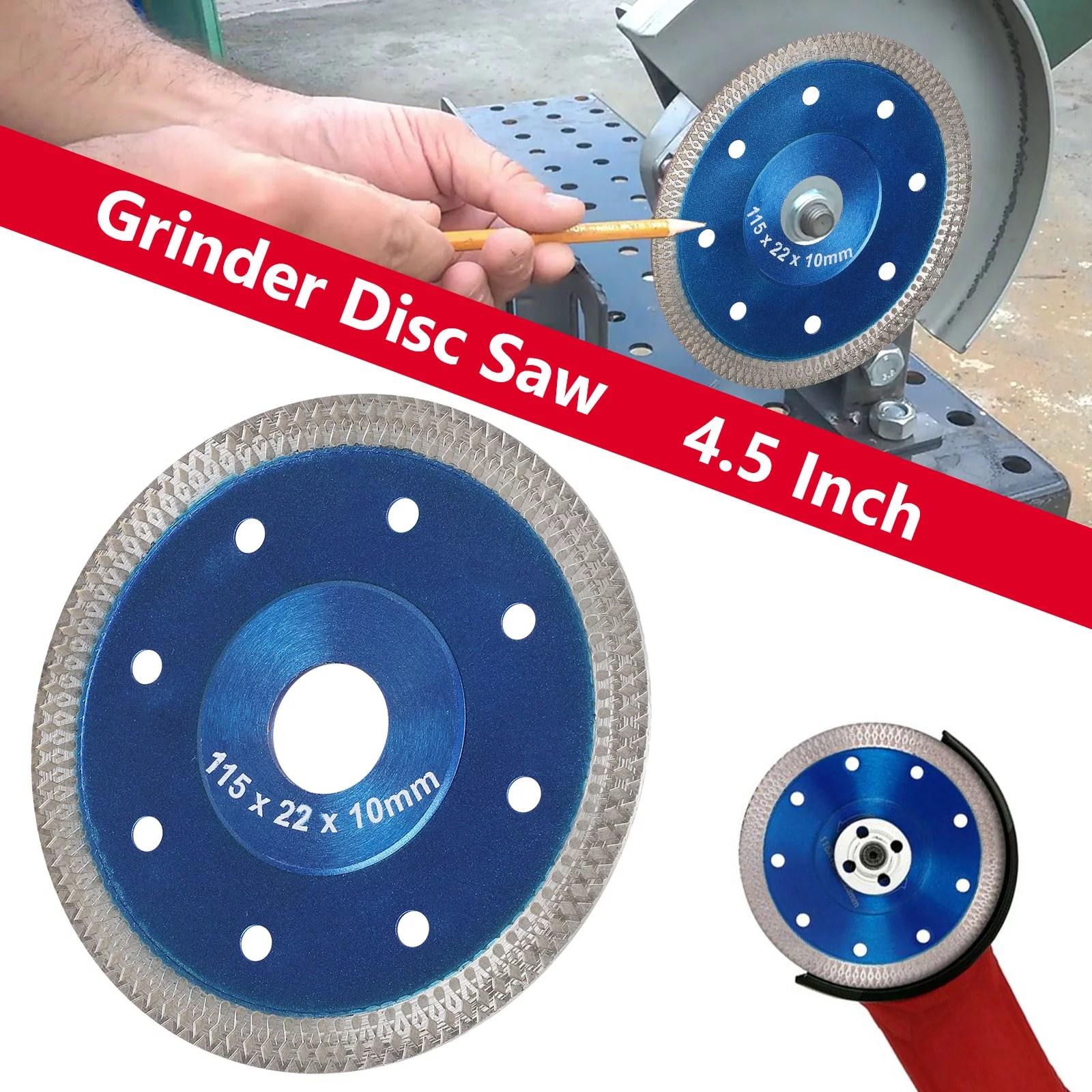 eeekit tile cutter blade 4 5 inch porcelain diamond saw blade ceramic cutting disc wheel for angle grinder grinder dry and wet tile cutter disc