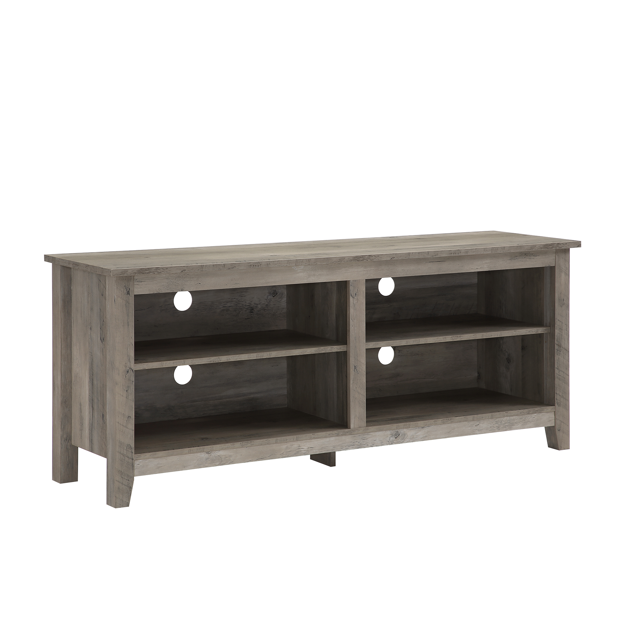 TV Stand 60 Table Wood Rustic Storage Console Living Room