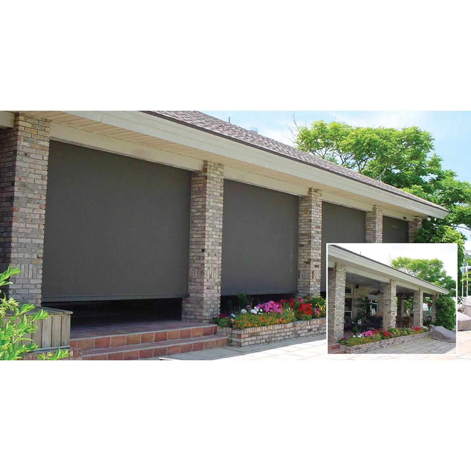 the perfect shade zip 7 5 x 8 ft motorized retractable screen walmart com
