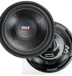 2 pyle 15 plpw15d subwoofers vented box lanzar 2 channel amp wiring kit walmart com [ 1205 x 1154 Pixel ]