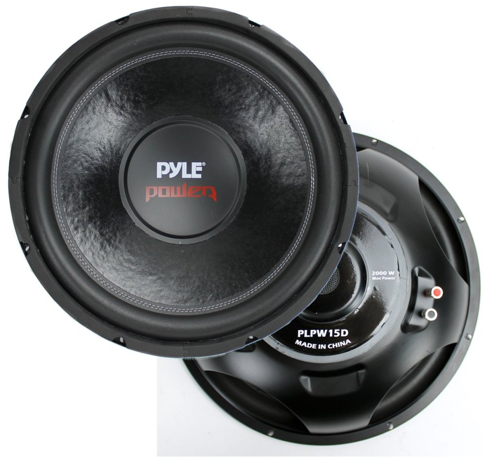 medium resolution of 2 pyle 15 plpw15d subwoofers vented box lanzar 2 channel amp wiring kit walmart com