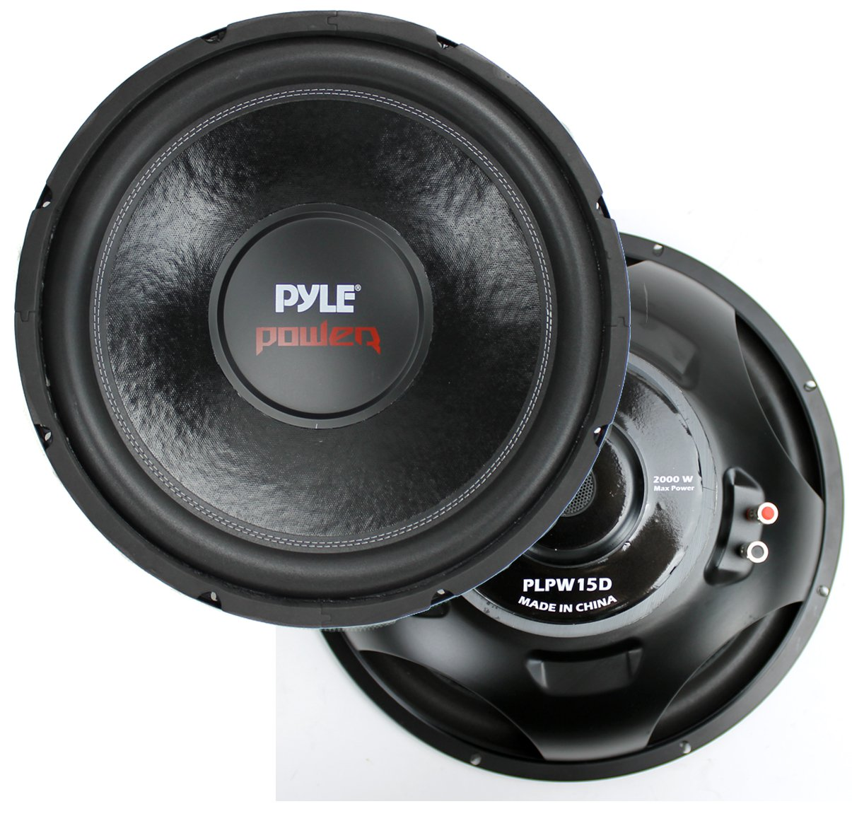 hight resolution of 2 pyle 15 plpw15d subwoofers vented box lanzar 2 channel amp wiring kit walmart com
