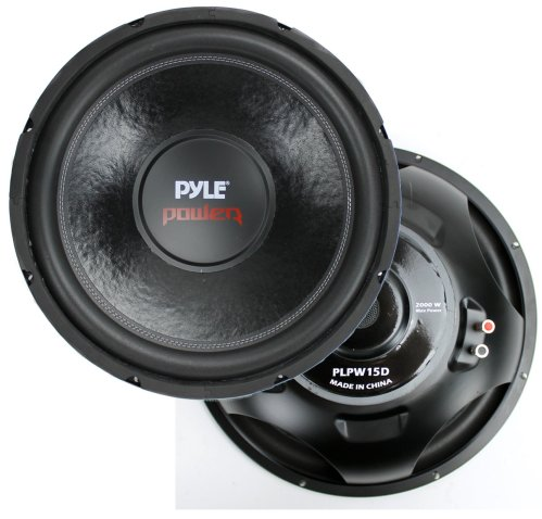 small resolution of 2 pyle 15 plpw15d subwoofers vented box lanzar 2 channel amp wiring kit walmart com