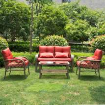 4 pcs weather outdoor chairs