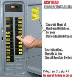 easy read breaker box decals tough vinyl labels for circuit breakers great for home owners apartment complexes and electricians  [ 1500 x 1500 Pixel ]