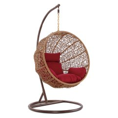 Hanging Wicker Chair Heavy Duty Chairs Outdoor Walmart Com Product Image Ceets Zolo Woven Rattan Lounge With Red Cushions