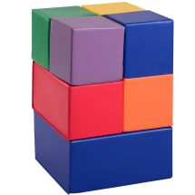 Gymax 7-piece Set Pu Foam Big Building Blocks Colorful
