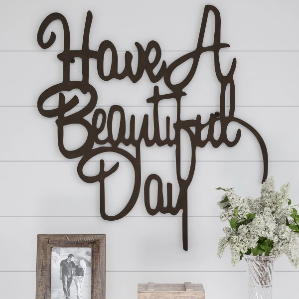 Metal Cutout- Beautiful Day Decorative Wall Sign-3d