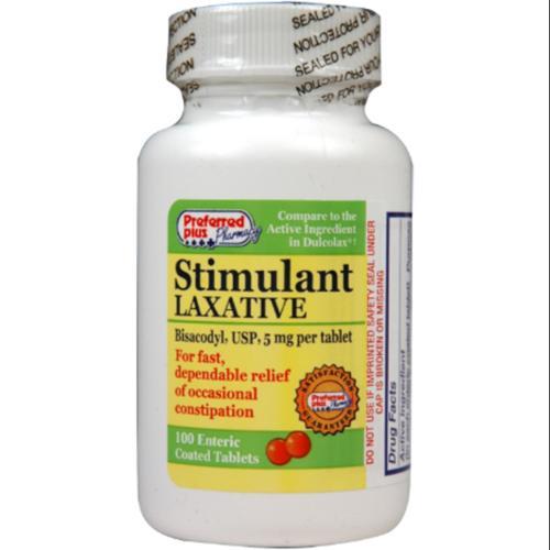 Bisacodyl stimulant laxative 5 mg tablets 100 ea (Pack of ...