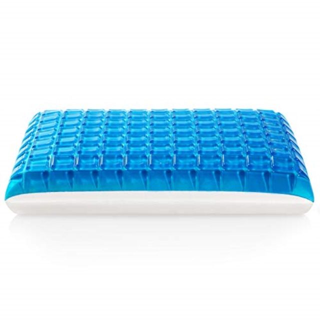moma gel memory foam pillow reversible cool gel pillow standard sized cooling bed pillow luxury hypoallergenic memory pillow