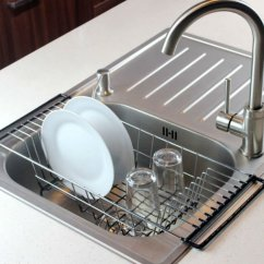 Kitchen Sink Rack Stationary Islands Neat O Over The Dish Drainer Durable Chrome Plated Steel Walmart Com