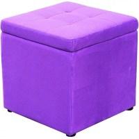 Mainstays Square Storage Ottoman, Purple Spice - Walmart.com
