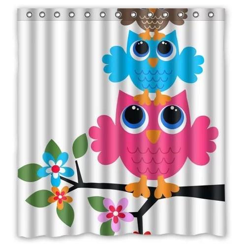 WOPOP Owl Shower Curtain 66x72 inches - Walmart.com - Walmart.com
