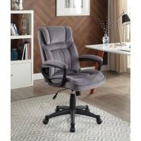 Serta Executive Office Chair in Velvet Gray Microfiber ...