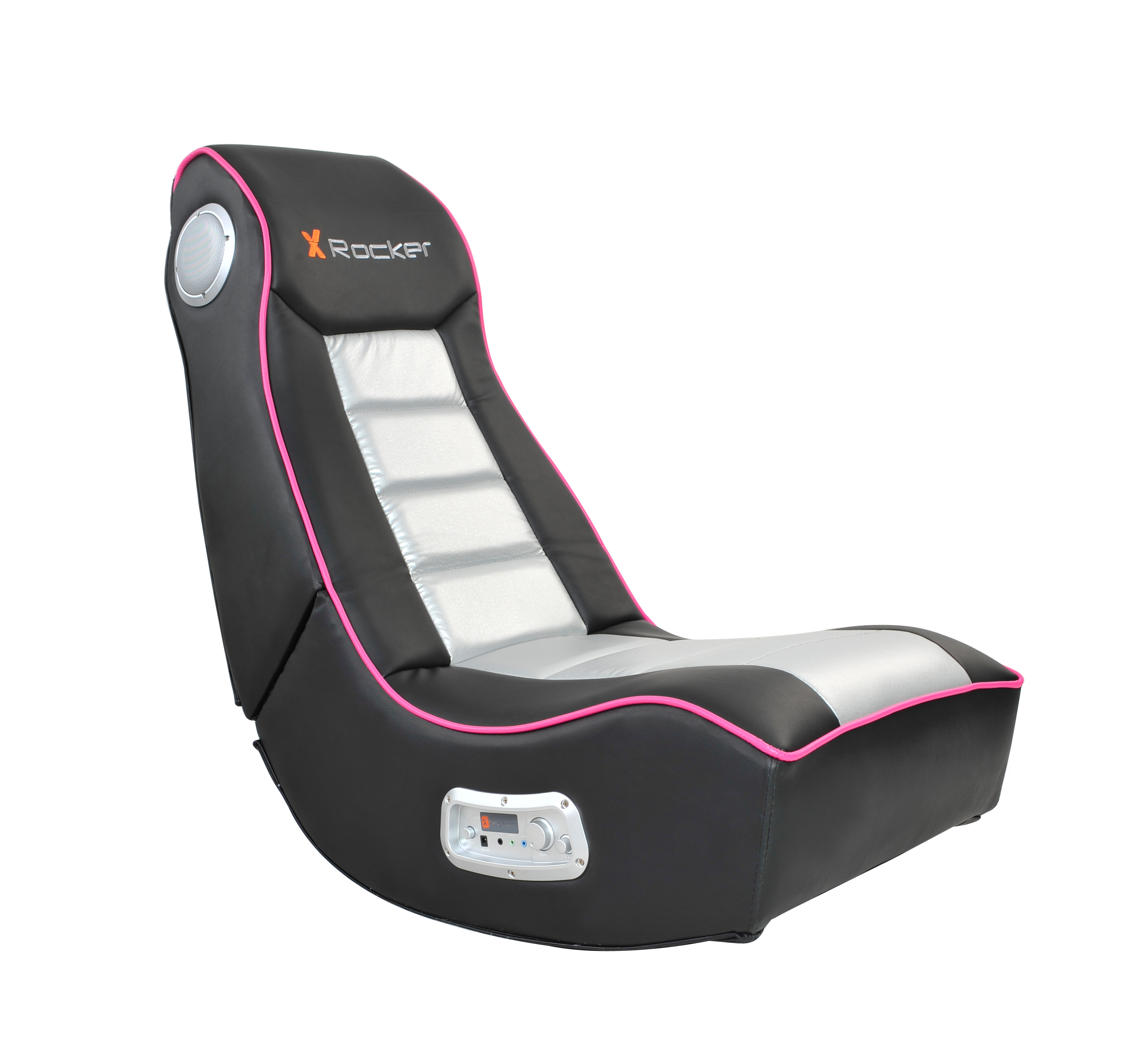 rocking bag chair modern pub table and chairs x rocker 2 1 wired gaming black pink walmart com